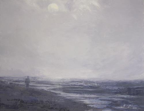 Elisabeth Ksoll, Spaziergang am Meer, Landscapes: Sea/Ocean, Emotions