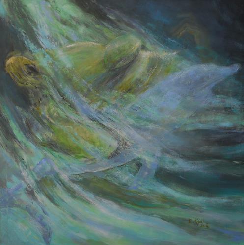 Elisabeth Ksoll, Lass uns träumen, Nature: Water, Fantasy, Expressive Realism