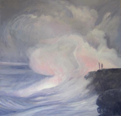 Elisabeth Ksoll, Zwischen Himmel u. Erde, Landscapes: Sea/Ocean, Emotions, Abstract Art