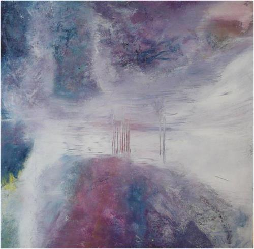 ReMara, Winterstimmung abstrakt, Landscapes, Abstract art, Contemporary Art, Expressionism
