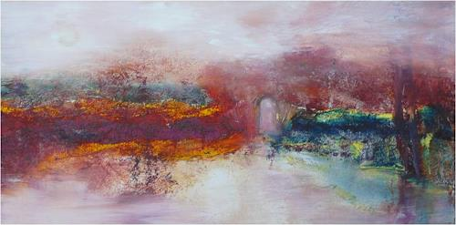 ReMara, Herbststimmung abstrakt, Abstract art, Landscapes, Contemporary Art