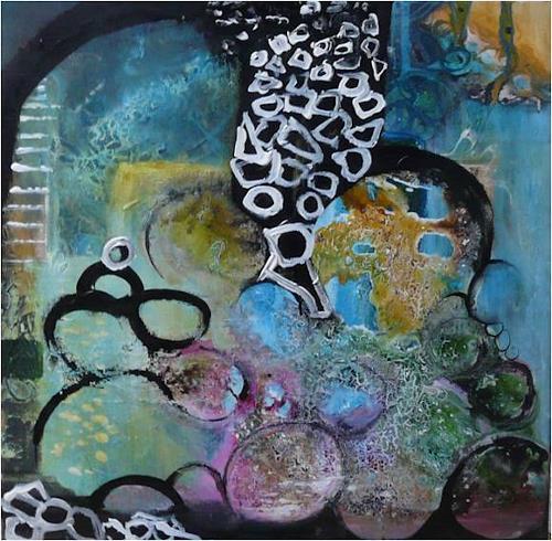 ReMara, ......ich mach mir die Welt, widewide......, Fantasy, Society, Contemporary Art, Abstract Expressionism
