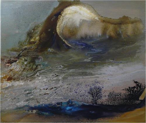 ReMara, Mondnacht, Landscapes, Fantasy, Contemporary Art, Expressionism