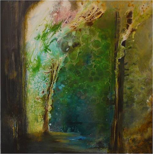 ReMara, Waldimpression, Abstract art, Nature: Wood, Contemporary Art, Expressionism