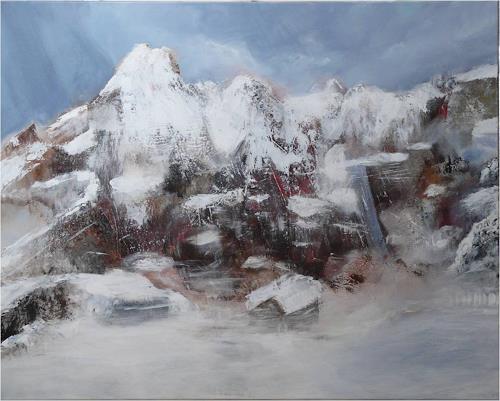 ReMara, Bergimpression, Landscapes: Mountains, Fantasy, Contemporary Art, Expressionism