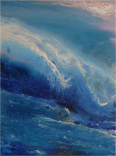ReMara, Wave after wave, Fantasy, Nature: Water, Contemporary Art, Expressionism