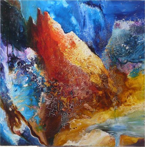 ReMara, Bergfantasie, Nature: Rock, Fantasy, Contemporary Art, Abstract Expressionism