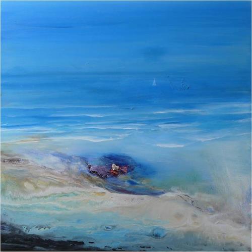 ReMara, Ins Blaue hinein, Nature: Water, Emotions: Joy, Contemporary Art, Expressionism