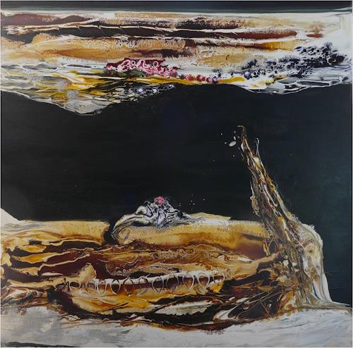 ReMara, Auf schwarzem Grund, Abstract art, Miscellaneous, Contemporary Art, Abstract Expressionism