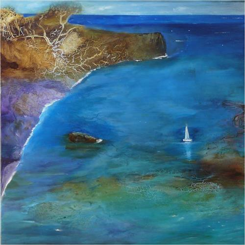 ReMara, Segelfrei, Fantasy, Landscapes: Sea/Ocean, Contemporary Art, Expressionism