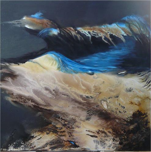 ReMara, Die schwarze Wüste, Abstract art, Fantasy, Contemporary Art, Expressionism