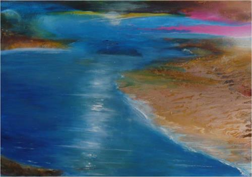 ReMara, Weite atmen, Landscapes: Sea/Ocean, Miscellaneous Emotions, Contemporary Art, Expressionism