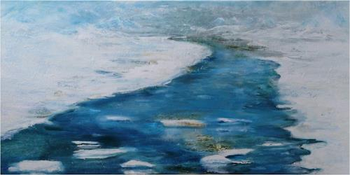 ReMara, Winterfluss, Landscapes: Winter, Nature: Water, Contemporary Art