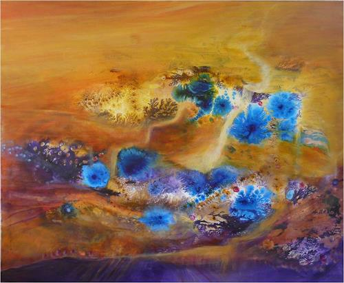 ReMara, Wüstenblume, Miscellaneous Landscapes, Symbol, Contemporary Art, Expressionism