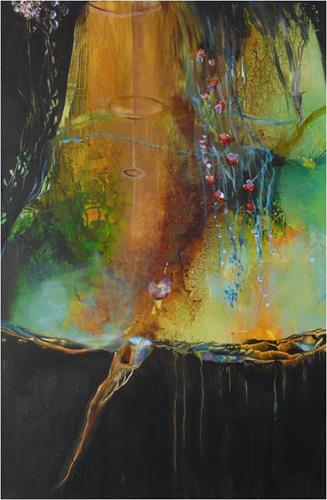 ReMara, Grünes Paradies, Nature: Miscellaneous, Fantasy, Contemporary Art, Expressionism