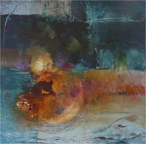 ReMara, Lichtfenster, Abstract art, Emotions: Grief, Contemporary Art, Abstract Expressionism