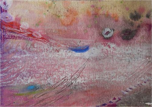 ReMara, Postkartenpärchen aus dem Urlaub, Abstract art, Landscapes: Sea/Ocean, Contemporary Art, Expressionism