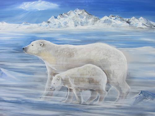 Erna Ryter, Eisiger Wind, Nature, Realism