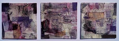 Christel Bormann, Papiercollage, Pigmente in Öl, Wachs, Abstract art, Abstract Art