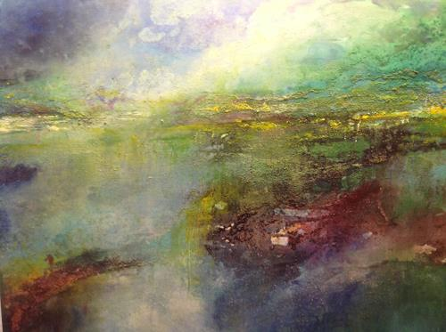 Sonia Radtke, moorlandschaft, Landscapes: Sea/Ocean, Landscapes: Sea/Ocean, Expressionism