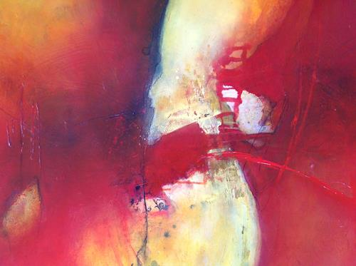 Sonia Radtke, Rouge-Jaune, Abstract art, Abstract Art, Abstract Expressionism