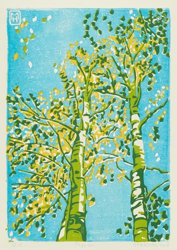 Matthias Haerting, Pappeln, Plants: Trees, Landscapes: Autumn, Modern Age