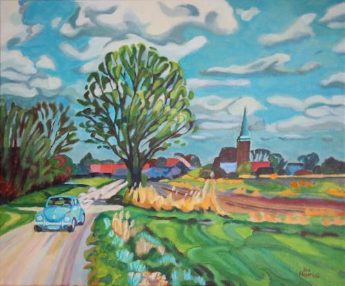 Matthias Haerting, ...es hätte so schön sein können! (Wremen II), Landscapes: Spring, Plants: Trees, Modern Age, Expressionism