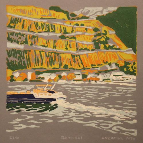 Matthias Haerting, Rheintal, Landscapes: Autumn, Landscapes: Mountains, Modern Age, Expressionism
