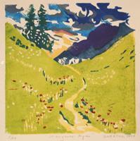 Matthias-Haerting-Landscapes-Mountains-Landscapes-Summer-Modern-Age-Modern-Age