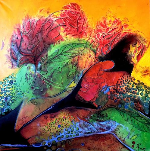 Katharina Frei-Boos, Flower Power, Abstract art, Abstract art, Expressionism