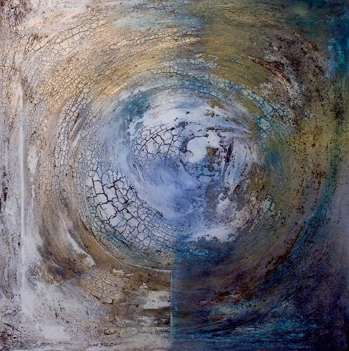 Katharina Frei-Boos, Blue Planet, Abstract art, Abstract art, Expressionism