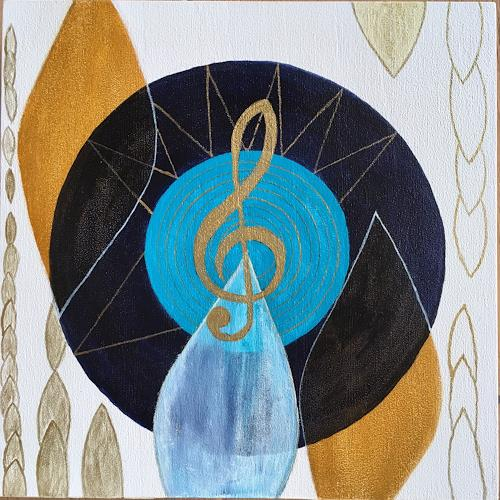 Katharina Frei-Boos, Listen to the sound of Nature, Abstract art, Abstract Art
