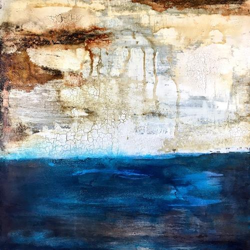 Katharina Frei-Boos, I fell in love with the sea, Abstract art, Abstract Art, Expressionism
