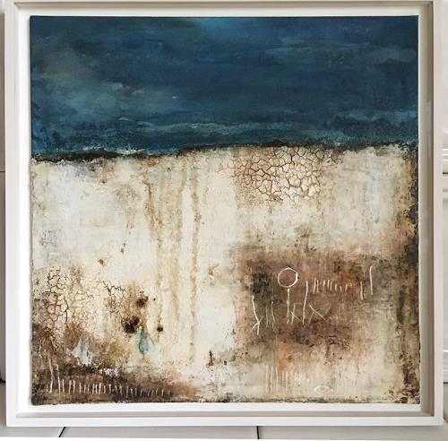 Katharina Frei-Boos, I fellt in love with the sea (framed / museumsglass), Abstract art, Abstract Expressionism