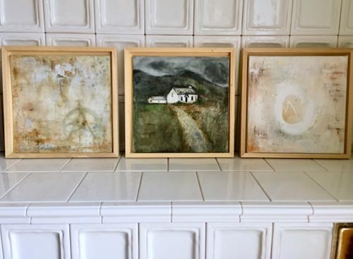 Katharina Frei-Boos, Seelenlandschaften und Mauerwerke, Abstract art, Landscapes, Expressionism