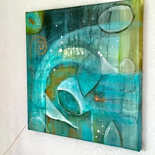 Katharina Frei-Boos, Fantastic Blue, Abstract art, Landscapes, Abstract Art