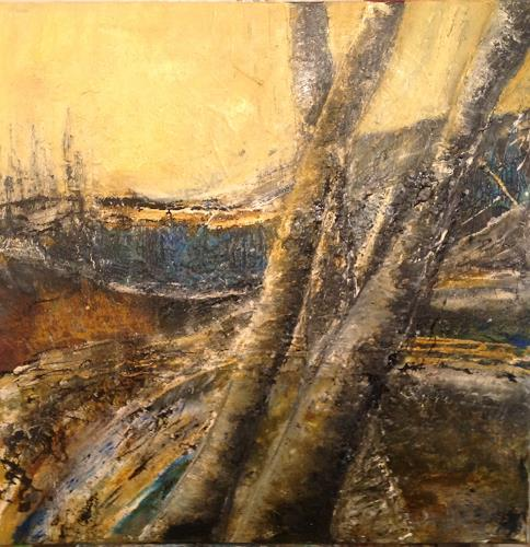 Gaby Derungs, Waldrand/www.mgm-art.com, Landscapes, Landscapes, Abstract Art, Expressionism