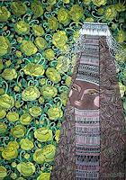 AlesyavonMeer, The Bridge in the garden of yellow Roses