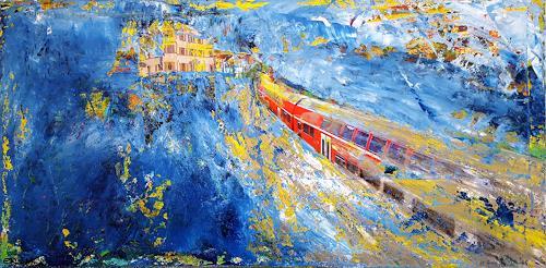 Elke Arndt, Hoffnungsvoll in die Zukunft, Landscapes, Abstract Expressionism