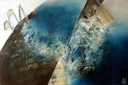 Maria und Wolfgang Liedermann, Blue Planet, Miscellaneous Outer Space, Abstract art, Contemporary Art
