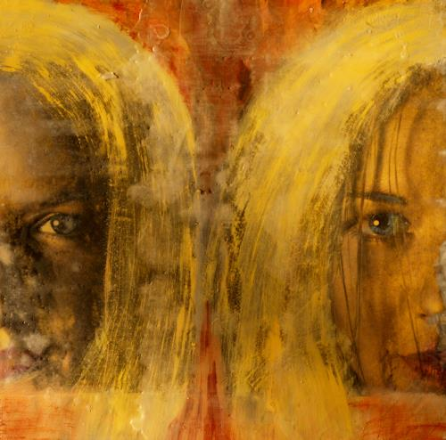 Maria und Wolfgang Liedermann, Marina 1, People: Faces, Abstract art, Contemporary Art, Abstract Expressionism