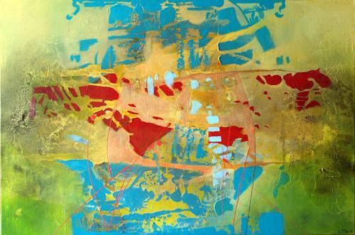 Maria und Wolfgang Liedermann, Polarlandschaft, Abstract art, Contemporary Art, Expressionism