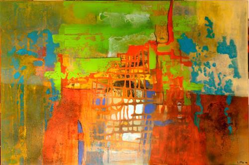 Maria und Wolfgang Liedermann, Roter Turm, Abstract art