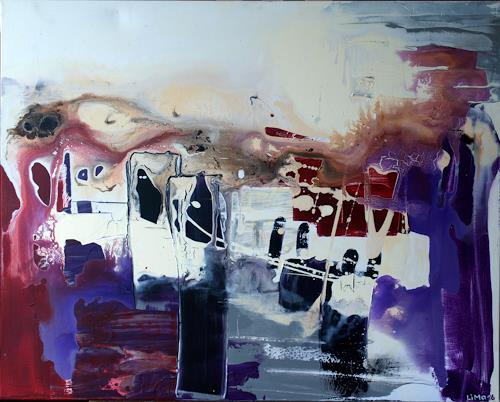 Maria und Wolfgang Liedermann, Exotische Stadt, Abstract art, Abstract Expressionism