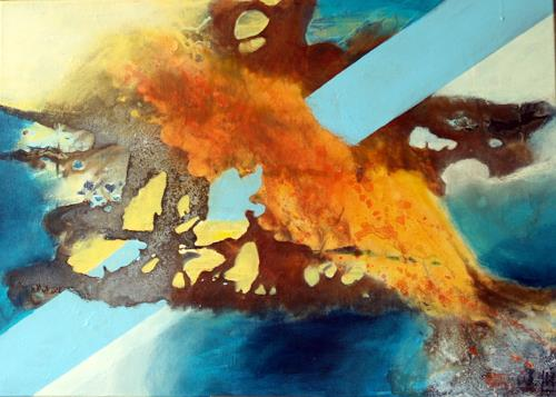 Maria und Wolfgang Liedermann, Blick in den Teich, Abstract art, Contemporary Art, Abstract Expressionism