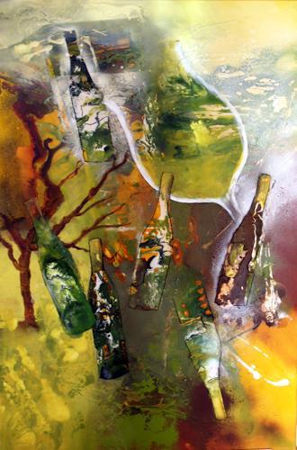 Maria und Wolfgang Liedermann, Grüner Veltliner, Abstract art, Plants: Fruits, Abstract Art