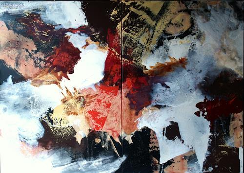 Maria und Wolfgang Liedermann, Die Weisheit tritt in den Hintergrund, Abstract art, Abstract Art