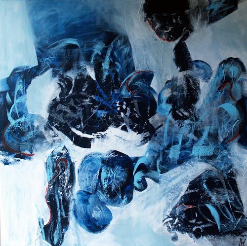 Maria und Wolfgang Liedermann, Waterworld 2, Abstract art, Romantic motifs, Abstract Art, Abstract Expressionism