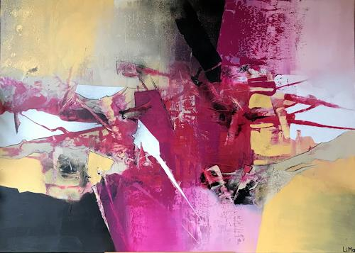 Maria und Wolfgang Liedermann, Pink, Abstract art, Contemporary Art, Abstract Expressionism