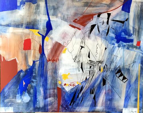 Maria und Wolfgang Liedermann, Corbata Azul, Abstract art, Contemporary Art